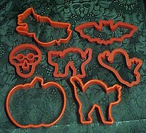 Halloween assortment of cookie cutters