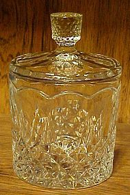 Lead crystal covered jam jelly sugar dish