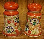 Vintage red geisha girl salt and pepper shakers