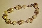 Vintage faux pearl bracelet unique and classy