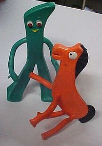 Vintage Gumby and Pokey  Bendee figures