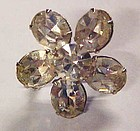 Vintage  brilliant  rhinestone crystal flower pin