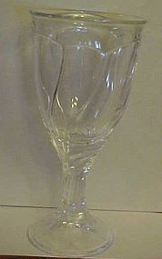Noritake  Sweet Swirl crystal clear water goblet
