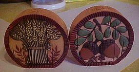 Hallmark Acorn and wheat Fall holiday shakers