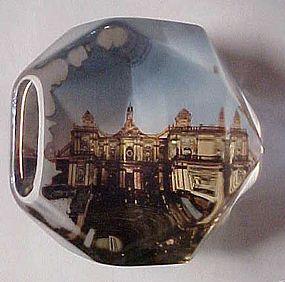 Vintage souvenir glass paperweight Albendorf-Kirche