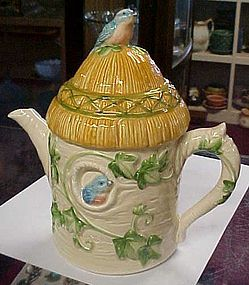 Otagiri  ceramic bluebird ivy cottage tea pot