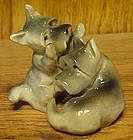 Vintage pair Ucago scotty dog figurines