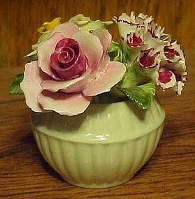 Crown Royal bone china flowers figurine England