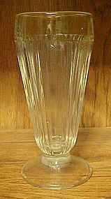 VIntage clear ribbed ice cream soda glasses