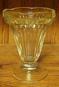 Vintage Ribbed Ice cream sundae glasses soda fountain