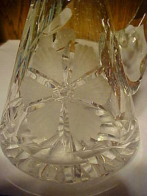 Lovely Early Brilliant Cut glass cruet with flowers