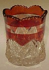 Duncan Miller Button Arches ruby stain toothpick holder