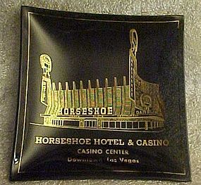 Vintage Horseshoe Hotel and Casino souvenir ashtray