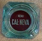 Vintage Reno Cal-Neva casino souvenir turquois ashtray