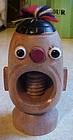 Vintage souvenir wood jungle native nutcracker