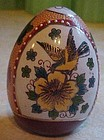 Collectible Asian bird and flower decorated  porc egg
