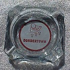 Vintage Bordertown casino souvenir  glass ashtray