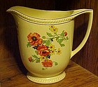 Sebring Golden Maize poppy water pitcher 1927