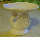 White ceramic swan soap dish, Lefton? C-793
