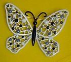 Vintage enamel paint filigree butterfly pin