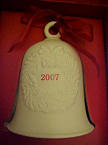 Hallmark dated porcelain bell 2007 MIB
