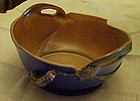 Vintage Roseville Pottery Blue Pinecone bowl #321-9
