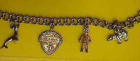 Vintage souvenir charm bracelet of Alaska