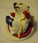 Stone Critters Polar Bear Slide figurine SC-657