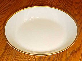 Nippon china #66 white with gold trim shallow soup bowl