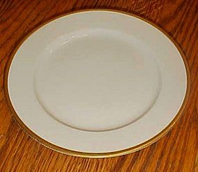 """Nippon China #66 white with gold edge 9 7/8"""" plate"""