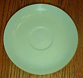 Noritake china pattern 621 light green gold trim saucer