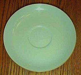 Noritake china pattern 621 light green gold trim saucer