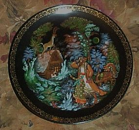Russian Legends collector plate Silver Hoof 1990