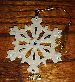 Lenox 2001 annual Snowflake ornament RARE