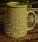 Bennington pottery souvenir mug Smithsonian Institute