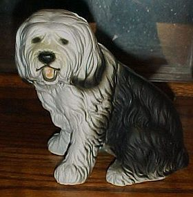 "Nice 6"" Sheep dog porcelain figurine"