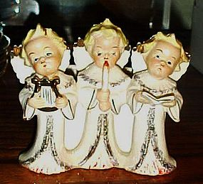 Vintage Japan angel Christmas carolers trio planter