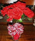 Handmade Red Roses Valentines day Ink pen arrangement