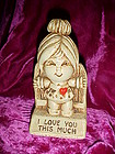 "Sillisculpts Paula figurine ""I love you this much"" 1972"