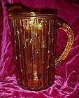 Anchor Hocking Tahiti beverage pitcher Honey gold