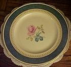 Burgess & Leigh Burleigh Ware dinner plate rose center