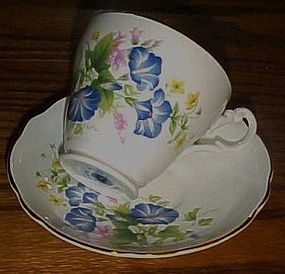 Royal Ascot morning glory bone china cup and saucer