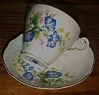 Royal Ascot morning glory bone china cup and saucer