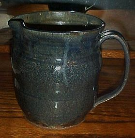 Glazed stoneware water pitcher unknown maker