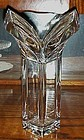 Lovely Mikasa V neck deco style lead crystal vase