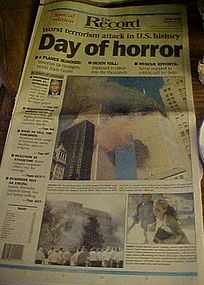Original complete 9-11 Newspaper Special Edit 9/12/01