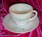 Fire King Bonnie Blue cup and saucer