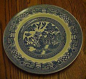 Swinnertons blue Old Willow dinner plate Staffordshire