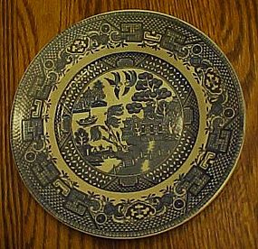 Swinnertons blue Old Willow salad plate Staffordshire
