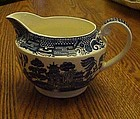 Swinnertons blue Old Willow creamer Staffordshire